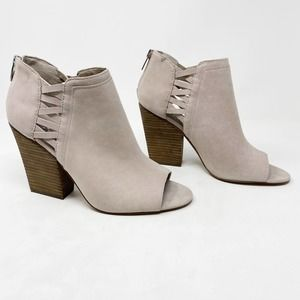 [Vince Camuto] Kassa Open Toe Suede Ankle Booties